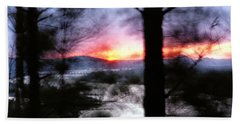 Sunset Atop Windy Emerald Park Bath Towel by Jason Politte