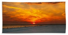 Hand Towel featuring the photograph Sunset Beach New York by Chris Lord