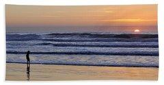 Sunset Beach Stroll  Hand Towel by AJ  Schibig