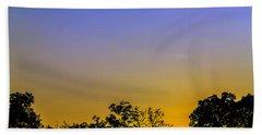 Sunset Behind Trees Bath Towel