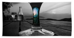 Sunset Cafe Hand Towel by Micki Findlay