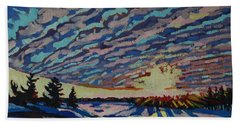 Sunset Deformation Hand Towel by Phil Chadwick