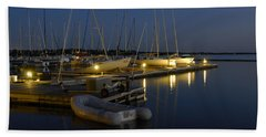 Sunset Dock Bath Towel by Charles Beeler