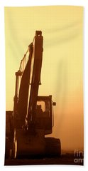 Sunset Excavator Hand Towel