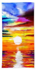 Sunset Explosion Hand Towel