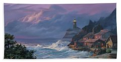 Sunset Fog Bath Towel