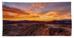 Sunset From Font's Point Hand Towel
