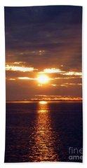 Sunset From Peace River Bridge Bath Towel