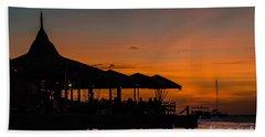 Sunset From Pelican Pier Bath Towel