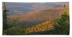 Sunset Glow Over The Autumn Landscape Hand Towel