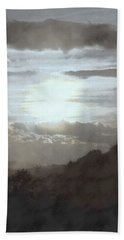 Bath Towel featuring the photograph Sunset Impressions Over The Blue Ridge Mountains by Photographic Arts And Design Studio