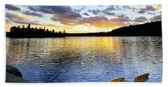 Sunset In Algonquin Park Bath Towel