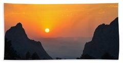 Sunset In Big Bend National Park Hand Towel