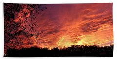 Sunset In Blue Ridge Foothills Hand Towel