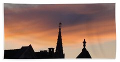 Sunset In Brussels Hand Towel