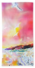 Sunset In Costa Brava Bath Towel