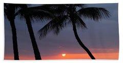 Sunset In Hawaii Bath Towel