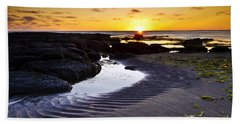Sunset In Iceland Hand Towel by Gunnar Orn Arnason