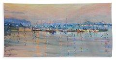 Sunset In Piermont Harbor Ny Bath Towel
