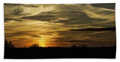 Bath Towel featuring the photograph Sunset In The Forest by Judy Hall-Folde