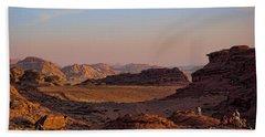 Sunset In The Wadi Rum Desert Jordan Hand Towel
