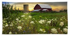 Sunset Lace Pastures Hand Towel