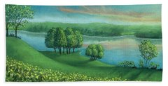 Sunset Lake A Hand Towel
