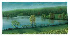 Sunset Lake C Bath Towel