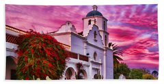 Sunset Mission San Luis Rey De Francia By Diana Sainz Bath Towel