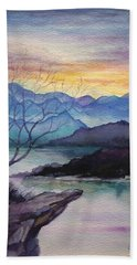 Sunset Montains Bath Towel