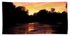 Bath Towel featuring the photograph Sunset Near Rosemere - Qc by Juergen Weiss