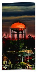Sunset On A Charlotte Water Tower By Diana Sainz Bath Towel