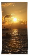 Sunset Over Key West Hand Towel by Christiane Schulze Art And Photography