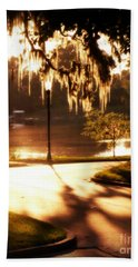 Sunset On Lake Mizell Hand Towel by Valerie Reeves