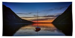 Sunset On Lake Willoughby Bath Towel
