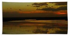 Sunset On Medicine Lake Hand Towel by Jeff Swan