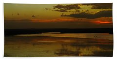 Sunset On Medicine Lake Bath Towel