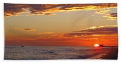 Sunset On Newport Beach Hand Towel