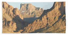 Sunset On The Chisos Mountains Hand Towel