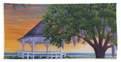 Sunset On The Gazeebo Hand Towel