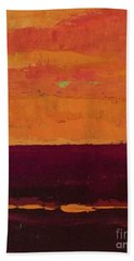 Sunset On The Pier Hand Towel by Gail Kent