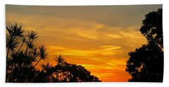 Hand Towel featuring the photograph Sunset On My Way Home by Leanne Seymour