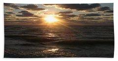 Sunset On Venice Beach  Hand Towel
