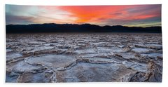 Sunset Over Badwater Bath Towel