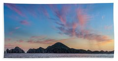 Bath Towel featuring the photograph Sunset Over Cabo by Sebastian Musial