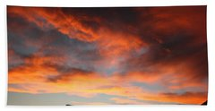 Sunset Over Estes Park Bath Towel