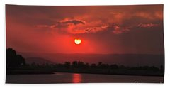 Sunset Over Hope Island Hand Towel