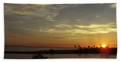 Sunset Over Jetty Point Hand Towel