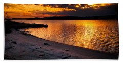 Sunset Over Little Assawoman Bay Hand Towel