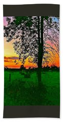 Bath Towel featuring the photograph Sunset Over M-33 by Daniel Thompson